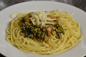 Tuna and Spinach Spaghetti