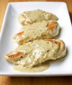 Chicken in a cream sauce