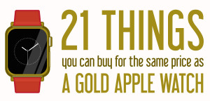 21 things you could buy for the same price as a gold Apple Watch [infographic]
