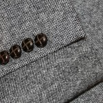 The Idle Man Tweed Blazer in Slim Fit button detail