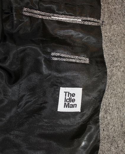 The Idle Man Tweed Blazer in Slim Fit inside pocket detail