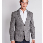 The Idle Man Tweed Blazer in Slim Fit front detail