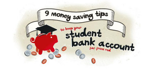 9 money saving tips to keep your student bank account far from red [infographic]