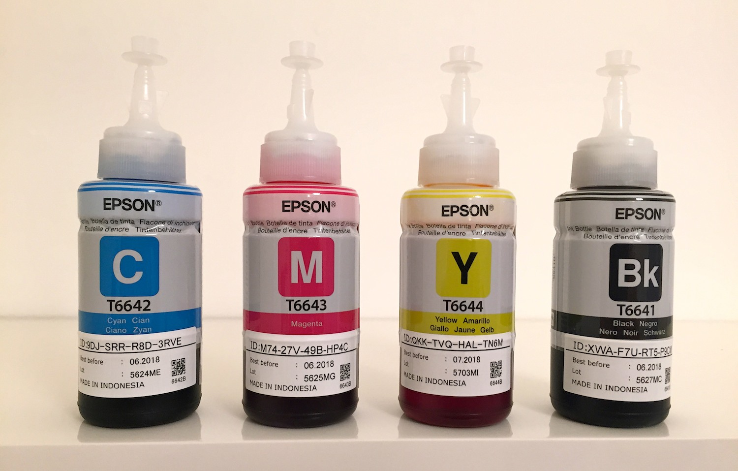 Epson EcoTank ink bottles