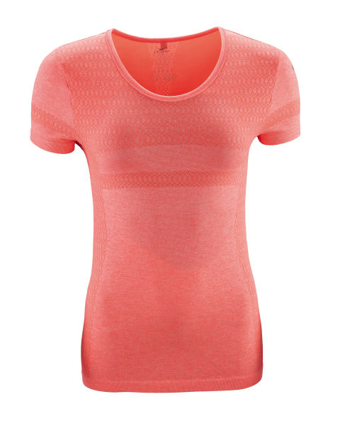 Ladies 39 hi vis coral running t shirt the student blogger for Coral t shirt womens