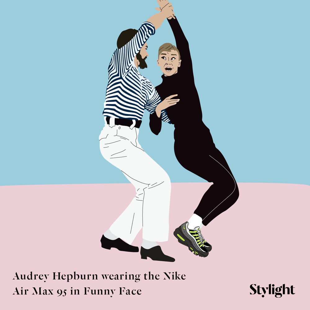 Audrey Hepburn wearing the Nike Air Max 95 in Funny Face