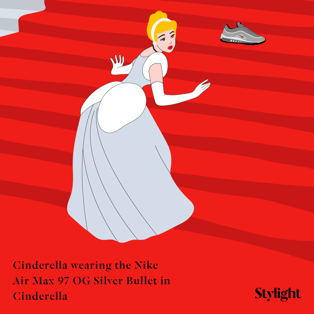 Cinderella wearing the Nike Air Max 97 OG QS Silver Bullet in Cinderella
