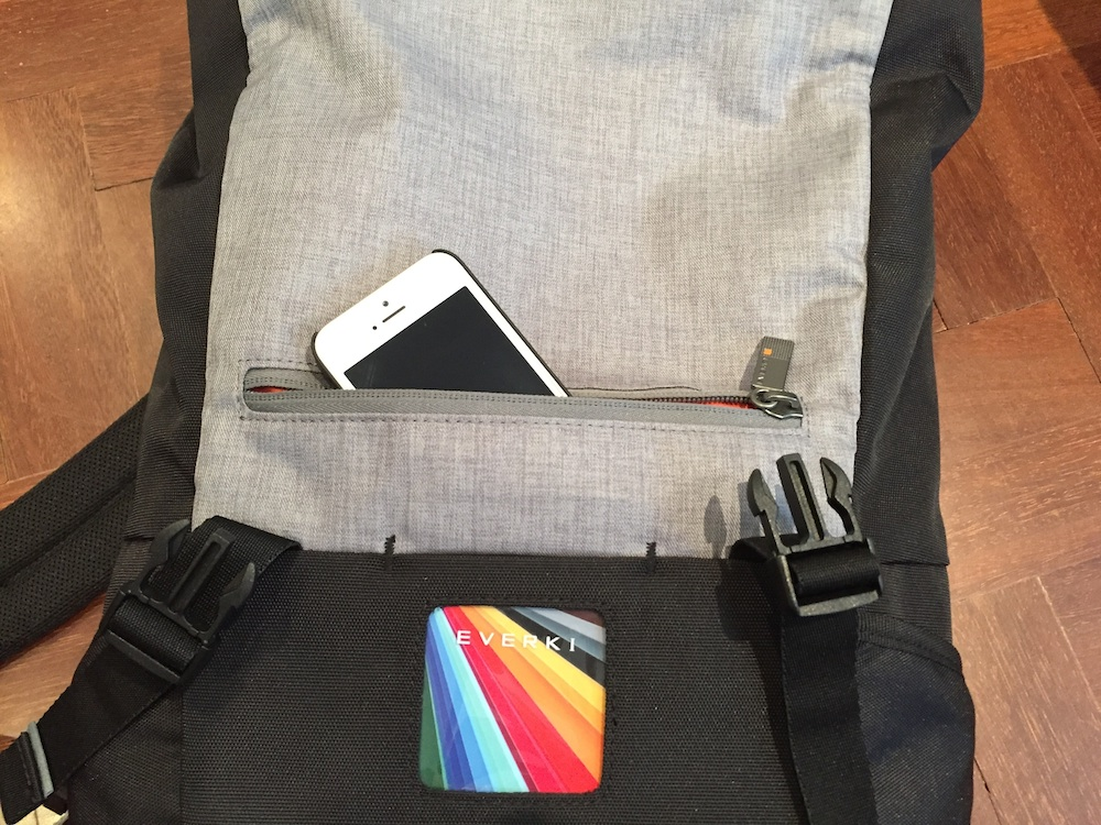 The quick-access pocket on the front for items you need to access easily