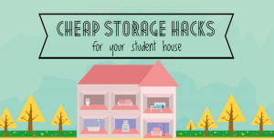 Cheap storage hacks for your student house