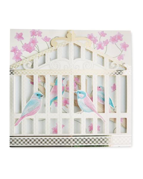 Penny Pot Studios Birdcage 3D Card