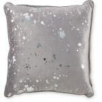 Grey Splatter Cushion